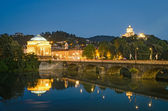 Turin (Torino), river Po, Grand Madre and Cappuccini — 图库照片