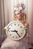 Lady čas — Stock fotografie