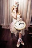 Lady time — ストック写真
