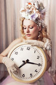 Lady time — 图库照片