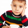Boy with a cup of tea — Stock Photo