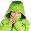 Boy dressed in a warm winter jacket — Stock Photo