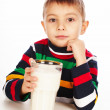 Royalty-Free Stock Photo: Boy with glass of milk in hand