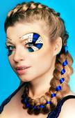 Young woman with beautiful makeup — Stok fotoğraf