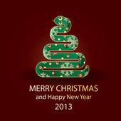 Drzewo nowy rok 2013 — Wektor stockowy