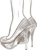 Shoes sketch — Stock Vector