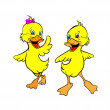 Two yellow ducklings — Stock Vector #13479242