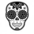 Stock Vector: Day of dead sugar skull