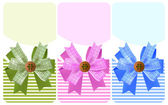 Gift bow with a button set — Wektor stockowy