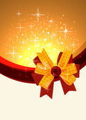 Shiny gift bow design template — Stockvector