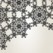 Snowflake ornament design template — Stock Vector