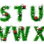 трава буквы s, t, u, v, w, x — Cтоковый вектор