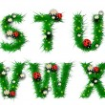Gras, Buchstaben s, t, u, V, w, x — Stockvektor  #15708365