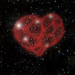 Stock Photo: Heart shaped nebula