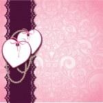 Vintage floral ornament heart design template — Stock Vector