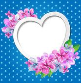 Serce z kwiatów szablon projektu — Wektor stockowy