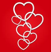 エレガントなバレンタインの s 日カード デザイン テンプレート — ストックベクタ