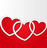 Elegant Valentine s day card design template — Stock Vector