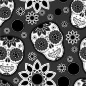 Sugar skull seamless pattern — Stock Vector