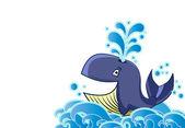 Cartoon style whale — Stock Vector
