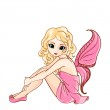 Little cartoon fairy in pink dress — Stock Vector #22014547