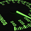 Stock Photo: Speedometer showing rising of earnings