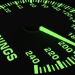 Speedometer showing rising of earnings — Stockfoto #22763370