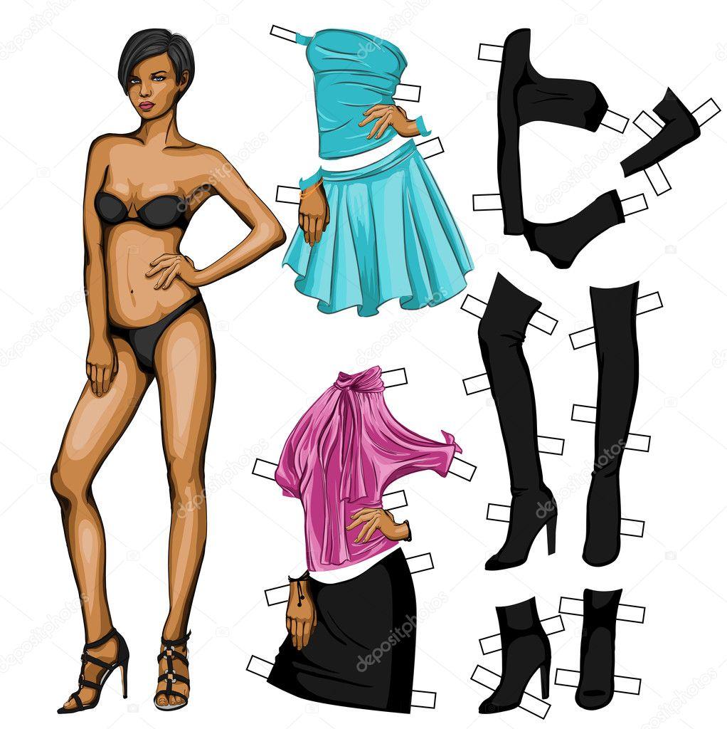 Vestir Uma Boneca Vestir a Boneca de Brinquedo