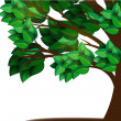 Tree with green leaves - Stock Vector