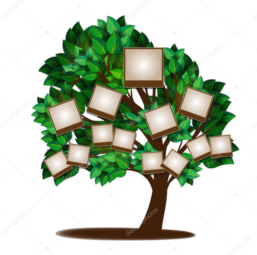 Family tree design template — Stock Vector © BlackSpring1 #22896776
