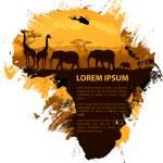 Africa grungy design template — Stock Vector #25125819
