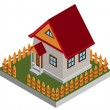 Royalty-Free Stock Vector Image: Small isometric house