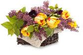 Bouquet di tuips un lillà — Foto Stock