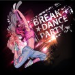 Breake dance party poster — Stock Vector