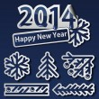 New Year 2014 symbols set — Stock Vector