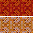 Set of 2 seamless patterns — Stock Vector