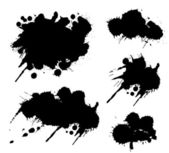 Grunge splatters set — Stock Vector