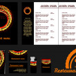 Restaurant menu design template an mockup — Stock Vector