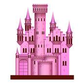 Pink castle — Stock Vector
