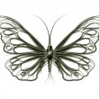Stock Photo: Steampunk butterfly made of pipes
