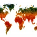 Grunge world map — Stock Vector