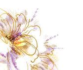Aquarel bloem achtergrond — Stockvector