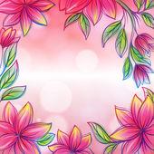 花卉框架复古风格设计模板 — 图库矢量图片