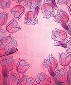 Floral frame retro style design template — Stock Vector