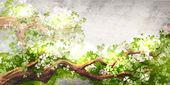 Magic tree branch — Stock Vector