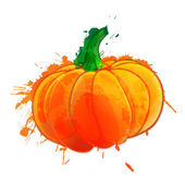 Pumpkin made of colorful splashes on white background — Stock Vector