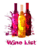 Grunge wine list template — Stock Vector