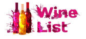 Grunge wine list template — Stock Vector
