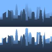 Generieke stadsgezicht — Stockvector