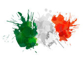 Italian  flag made of colorful splashes — Stock Vector